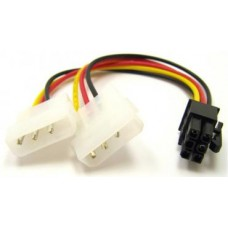 Кабель ATcom 6-pin - 2x Molex AT6185
